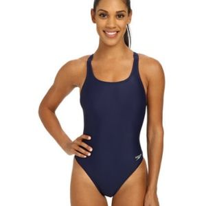 Speedo Women's Solid Lycra SuperPro, Navy